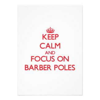 Behalten Sie Ruhe und Fokus auf Friseur Polen