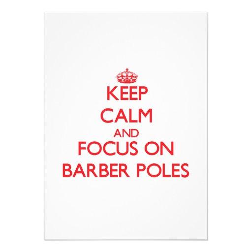 Behalten Sie Ruhe und Fokus auf Friseur Polen Einladungskarte