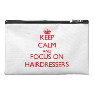 Behalten Sie Ruhe und Fokus auf Friseuren