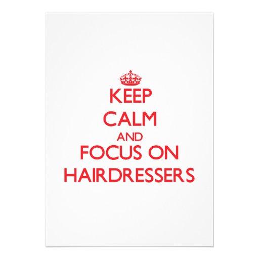 Behalten Sie Ruhe und Fokus auf Friseuren Ankündigungen