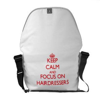 Behalten Sie Ruhe und Fokus auf Friseuren Kurier Taschen