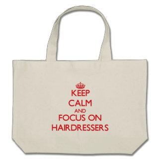 Behalten Sie Ruhe und Fokus auf Friseuren Einkaufstasche