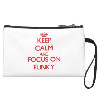 Behalten Sie Ruhe und Fokus auf Funky