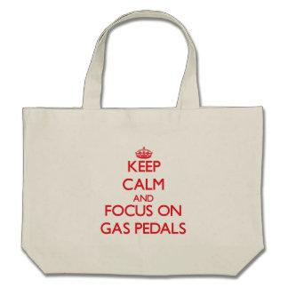 Behalten Sie Ruhe und Fokus auf Gas-Pedalen Tragetasche