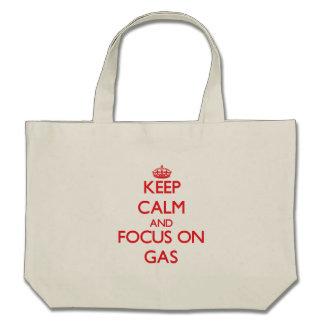 Behalten Sie Ruhe und Fokus auf Gas Einkaufstasche