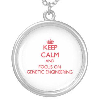 Behalten Sie Ruhe und Fokus auf Gentechnik