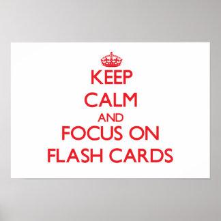 Behalten Sie Ruhe und Fokus auf grellen Karten Plakatdrucke