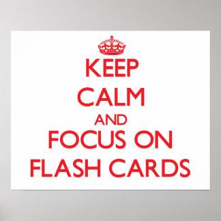 Behalten Sie Ruhe und Fokus auf grellen Karten Posterdrucke