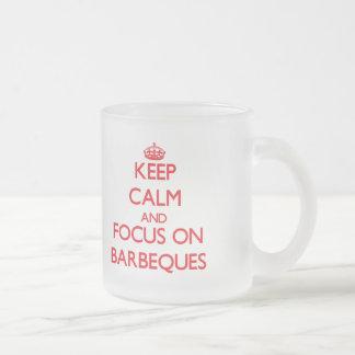 Behalten Sie Ruhe und Fokus auf Grills Kaffeetassen