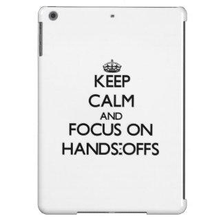 Behalten Sie Ruhe und Fokus auf Händen-Offs