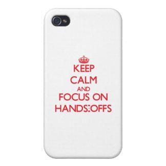 Behalten Sie Ruhe und Fokus auf Händen-Offs iPhone 4/4S Hüllen