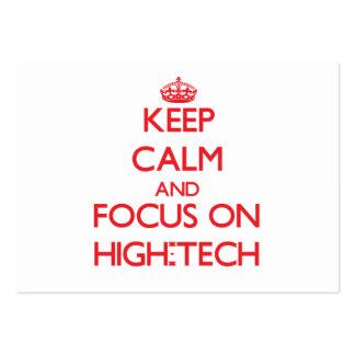 Behalten Sie Ruhe und Fokus auf Hoch - Tech Visitenkarte