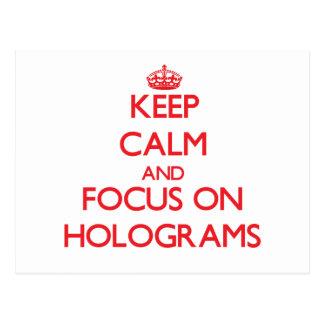 Behalten Sie Ruhe und Fokus auf Hologrammen