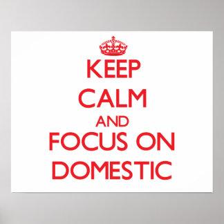 Behalten Sie Ruhe und Fokus auf inländischem
