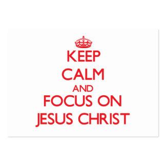 Behalten Sie Ruhe und Fokus auf Jesus Christus
