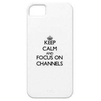 Behalten Sie Ruhe und Fokus auf Kanälen Etui Fürs iPhone 5