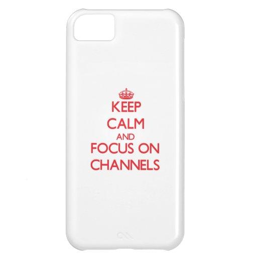 Behalten Sie Ruhe und Fokus auf Kanälen Hülle Für iPhone 5C