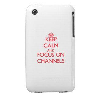 Behalten Sie Ruhe und Fokus auf Kanälen iPhone 3 Hüllen
