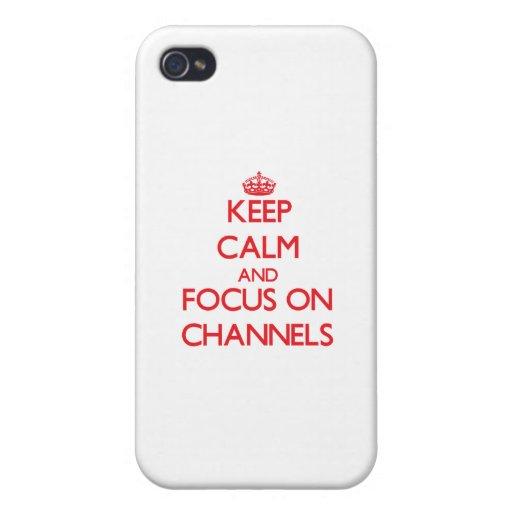 Behalten Sie Ruhe und Fokus auf Kanälen iPhone 4/4S Hüllen