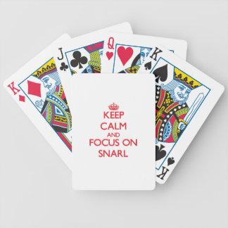 Behalten Sie Ruhe und Fokus auf Knäuel Spielkarten