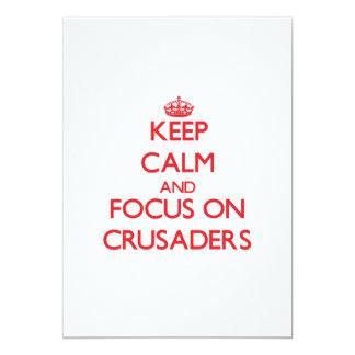 Behalten Sie Ruhe und Fokus auf Kreuzfahrern 12,7 X 17,8 Cm Einladungskarte