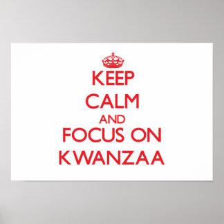 Behalten Sie Ruhe und Fokus auf Kwanzaa