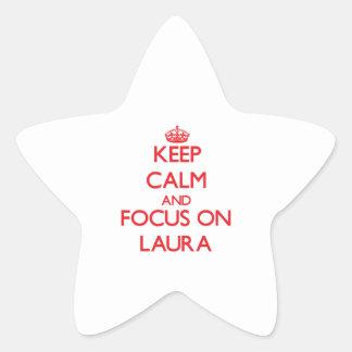 Behalten Sie Ruhe und Fokus auf Laura Stern-Aufkleber
