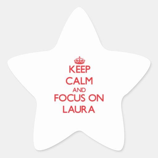 Behalten Sie Ruhe und Fokus auf Laura Stern Aufkleber