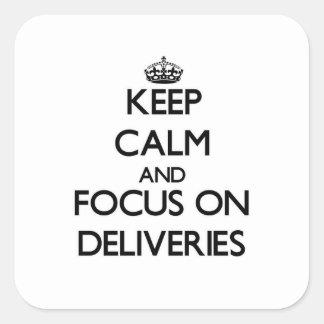 Behalten Sie Ruhe und Fokus auf Lieferungen