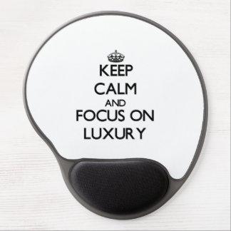 Behalten Sie Ruhe und Fokus auf Luxus Gel Mouse Matten