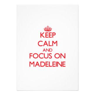 Behalten Sie Ruhe und Fokus auf Madeleine