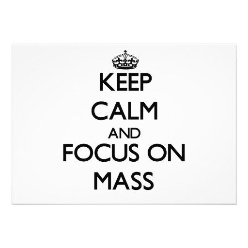 Behalten Sie Ruhe und Fokus auf Masse Personalisierte Ankündigungen
