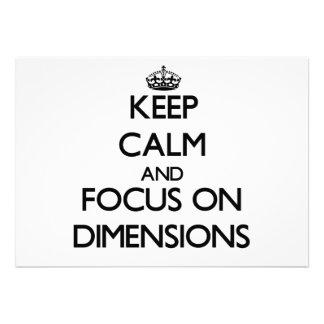 Behalten Sie Ruhe und Fokus auf Maßen