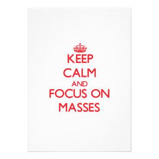 Behalten Sie Ruhe und Fokus auf Massen