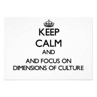 Behalten Sie Ruhe und Fokus auf Maßen der Kultur Individuelle Einladungskarte