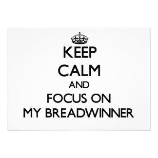 Behalten Sie Ruhe und Fokus auf meinem Ernährer