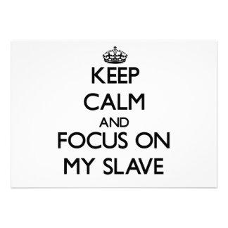 Behalten Sie Ruhe und Fokus auf meinem Sklaven