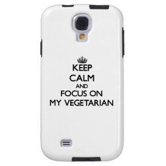 Behalten Sie Ruhe und Fokus auf meinem Vegetarier Galaxy S4 Hülle