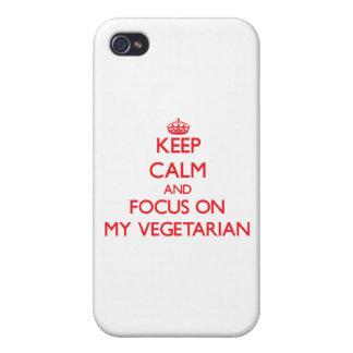 Behalten Sie Ruhe und Fokus auf meinem Vegetarier