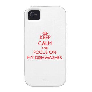 Behalten Sie Ruhe und Fokus auf meiner Case-Mate iPhone 4 Hüllen