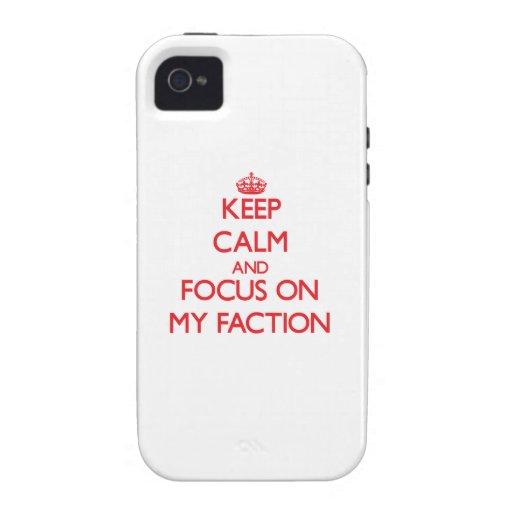 Behalten Sie Ruhe und Fokus auf meiner Partei Vibe iPhone 4 Hülle