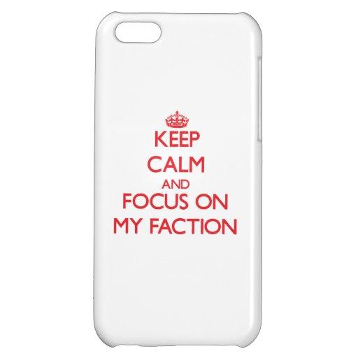 Behalten Sie Ruhe und Fokus auf meiner Partei iPhone 5C Hülle