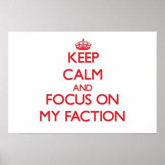 Behalten Sie Ruhe und Fokus auf meiner Partei Plakatdrucke