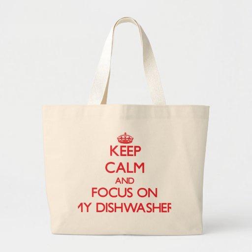 Behalten Sie Ruhe und Fokus auf meiner Tasche