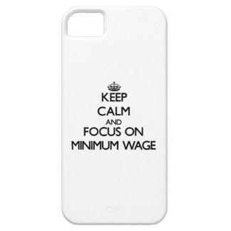 Behalten Sie Ruhe und Fokus auf Mindestlohn iPhone 5 Schutzhülle