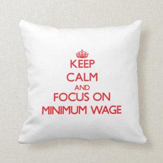 Behalten Sie Ruhe und Fokus auf Mindestlohn