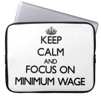Behalten Sie Ruhe und Fokus auf Mindestlohn Laptop Computer Schutzhüllen
