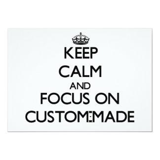 Behalten Sie Ruhe und Fokus auf nach Maß Personalisierte Ankündigung