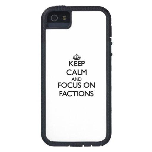 Behalten Sie Ruhe und Fokus auf Parteien iPhone 5 Case