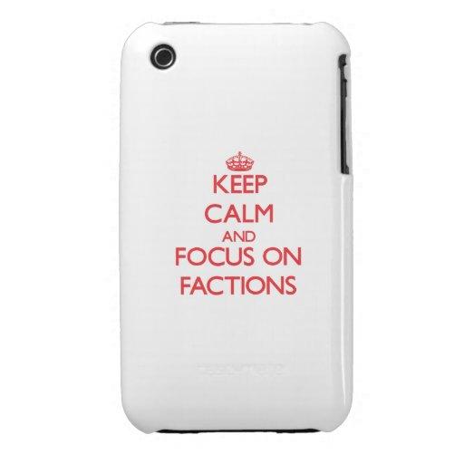 Behalten Sie Ruhe und Fokus auf Parteien Case-Mate iPhone 3 Hülle